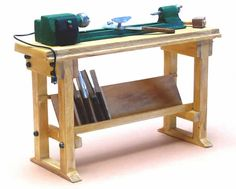 Miniature Modern Wood Shop Tools - Miniature Cast Lathe 1:12 scale
