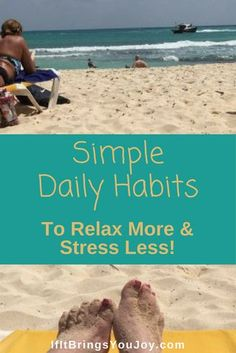 Get started on your path to a more relaxed life. Ideas to incorporate into your life to promote relaxation. Out with stress - In with relaxation!