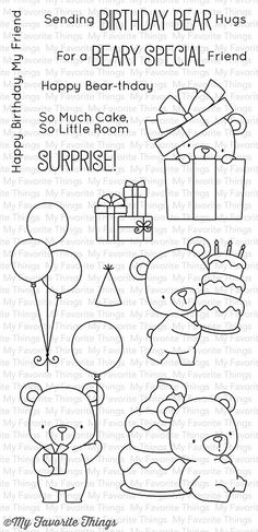 MFT STAMPS: Beary Special Birthday