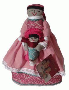 Muñeca india Otomí, elaborada en algodón