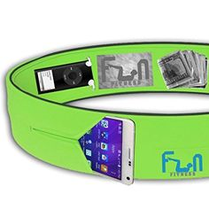Running Belt (Green, Small for Kids) - Premium Fitness Waist Pack - Best Fit for Large Phones including iPhone 7 plus and Samsung Note 4 - Perfect for Workout Exercise, Gym, Yoga, Dancing and Outdoor Activities, Cycling, Camping, Travelling