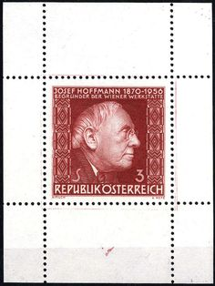 Philasearch.com - Austria 2nd. Republic. 1966, Hoffmann, perforated proof in dark brownish red in the sheetlet format, original gum with hinge in the upper margin, certificate Dr. Glavanovitz (ANK 1235 P)  Dealer Viennafil Auctions  Auction Starting Price: 800.00 EUR