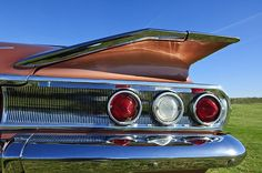 Car Tail Light Images by Jill Reger - Images of Tail Lights - 1960 Chevrolet Impala Resto Rod Taillight Chevrolet Impala, Chevrolet Tahoe, Classic Chevrolet, Vintage Cars, Antique Cars, Automobile, Cars Usa, Light Images, Car Pictures