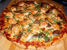 surf & turf pizza.. omg, soo good!