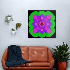 """Mandala Lotus Flower "" Metal Print by Pultzar   Redbubble"