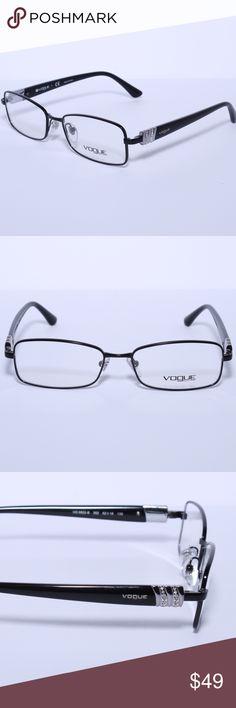Vogue Black/Silver Vogue 3822 b 352 black Brand New 100% Authentic  Vogue Black/Silver Vogue 3822 b 352 black Comes with Generic Case, NO Pouch Vogue Eyewear Accessories Glasses
