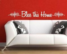 BLESS THIS HOME INSPIRATIONAL QUOTATION 2 WALL ART STICKER SML VINYL DECAL Wall Sticker, Wall Decals, Vinyl Decals, Wall Art, African Market, Beautiful Wall, Christian Quotes, Quotations, Blessed