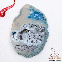 Hand Painted Leopard Agate Slice Gemstone Necklace Pendant Jewlery D1706 1298 #ZL #Pendant