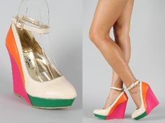 Privileged Casa Colorblock Mary Jane Wedge