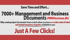 Visit the link: http://www.pmmilestone.biz to get a Complete Set of 7000 plus Project Management and Business Templates, Plans, Tools and Forms with detailed guides and examples. And everything a project manager needs to deliver a successful project. And these templates Can Increase the Efficiency of Project Managers to Meet the Project.
