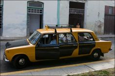 Six door Lada Taxi in Russia