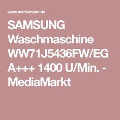 SAMSUNG Waschmaschine WW71J5436FW/EG A+++ 1400 U/Min. - MediaMarkt