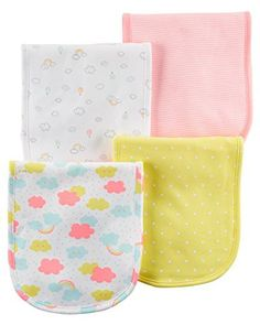 Carter's Baby Girls' 4 Pack Burp Cloth- Rainbow Carters Baby Girls Pack Spucktuch – Regenbogen Baby Bikini, Luxury Baby Clothes, Cute Baby Clothes, Twin Baby Girls, My Baby Girl, Girls 4, Baby Girl Accessories, Baby Towel, Baby Supplies