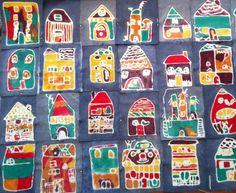 Faux Batik Art Project for Kids | Elementary art project.