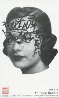 ✖ David Plunkert Culture Bandit poster