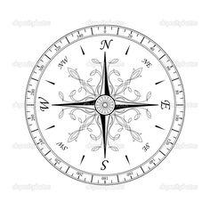 vintage compass rose tattoo | ... an ancient compass rose designs cachedancient compass compass tattoos