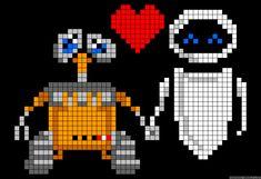 Wall-E and Eva love perler bead pattern