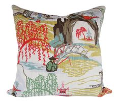 Robert Allen Neo Toile Pillow Cover - Decorative Pillow - Throw Pillow - 12x16, 12x20, 14x18, 14x24, 16x16, 18x18, 20x20, 22x22, 24x24