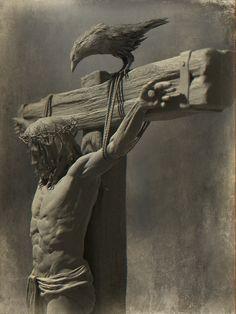 Jesus by Tamas Kerti Jesus Tattoo, Catholic Art, Religious Art, Volume Art, Christus Tattoo, Jesus Christ Painting, Jesus Drawings, Crucifixion Of Jesus, Jesus Christ Statue