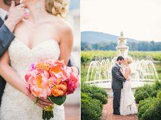 Ken & Elaine   A Fuchsia & Gold Keswick Vineyards, Virginia Wedding Photographer #weddings #keswickvineyards #charlottesville #fountain #mountainweddings #couplesinlove