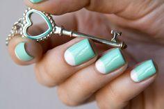 Лунный бирюзовый маникюр ::: onelady.ru ::: #nail #nails #nailart #manicure