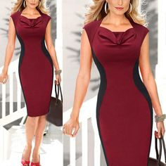 New Elegant Short Sleeve Women V Neck Bodycon Elegant Pencil Dresses Office Wear Women Work Outfits Vestidos