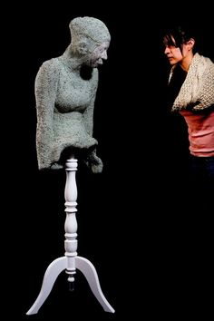 Alejandra Zermeño´s crochet art photograph by Francisco Kochen