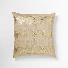 Gilded Cable Knit Pillow