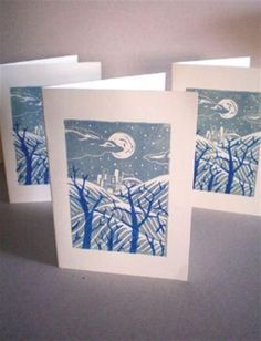 Tutorial: Print Your Own Seasonal Greetings Cards Using Linocut Techniques