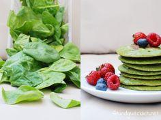 grüne pancakes mit spinat / green pancakes