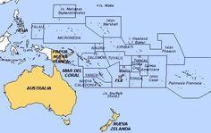 mapa oceania paises - Buscar con Google