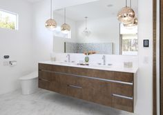 Loure® bathroom sink faucet     Verticyl® bathroom sink     Double sinks make morning prep easier for a couple and allow your own personal storage space.