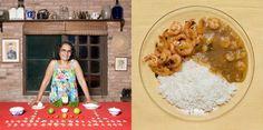 Rosane Liborio, 54 years old - Florianopolis, Brazil: Garlic prawns with rice and prawns pirao