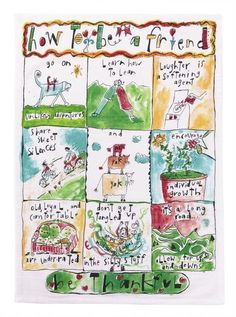 How To Be A Friend Kitchen Towels - Sandy Gingras - Peking Handicrafts