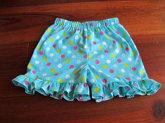 Ruffle Shorts Pattern Baby Toddler Children by EllaFullOfGrace Toddler Sewing Patterns, Baby Dress Patterns, Sewing For Kids, Baby Sewing, Ruffle Pants Pattern, Ruffle Shorts, Pillowcase Dress Pattern, Modest Shorts, Girl Shorts