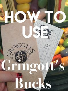 How to use Gringott's Bucks in Diagon Alley | Wizarding World of Harry Potter | Universal Studios Florida
