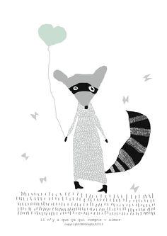 774-p{595}-love-raccoon.png (Image PNG, 595 × 842 pixels)