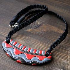 Купить Яркий керамический кулон - рыжий, кулон, Керамика, керамика ручной работы, керамические украшения