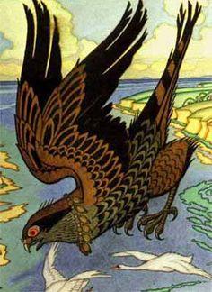 from Russian Fairy Tales (detail) by Ivan Bilibin. Includes Russian Fairy Tales information