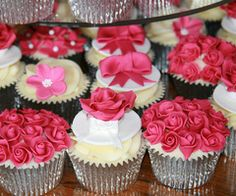 Hot Pink Wedding Cupcake Tower on We Heart It