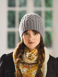 Snowtracks Hat #Knit #MichaelsStores
