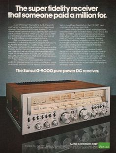 1978 Sansui G-9000 Receiver Paid a Million Ad