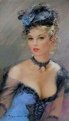 Portrait Dame en ble