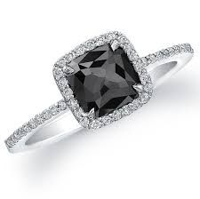 black engagement rings for women - Google Search
