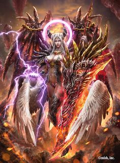 Angel by Ze-l on DeviantArt Fantasy Girl, Chica Fantasy, Fantasy Art Women, Beautiful Fantasy Art, Fantasy Warrior, Dark Fantasy Art, Fantasy Artwork, Dark Art, Demon Art