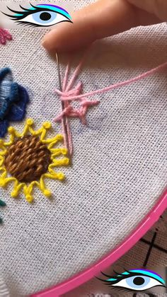 I have taught hand embroidery for beginners all over the UK. Diy Embroidery Patterns, Hand Embroidery Videos, Embroidery Stitches Tutorial, Flower Embroidery Designs, Creative Embroidery, Simple Embroidery, Embroidery Techniques, Embroidery Art, Diy Embroidery Denim