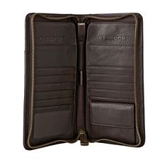 Zippered double passport holder. Size is great for holding boarding passes too! FOSSIL® Accessories Novelty:Accessories Estate Multi Passport Case MLG0084