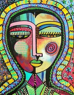 sandra silberzweig Talavera Virgin of Guadalupe protection painting