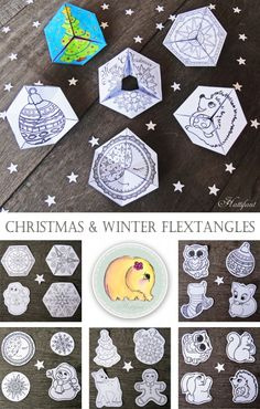 Wonderful Winter Flextangle Printables - free to download super fun to make and play with (2)