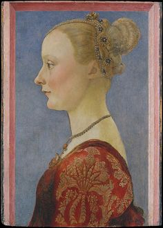 Portrait of a Woman, Piero del Pollaiuolo (Piero di Jacopo Benci), ca. 1480; MMA 50.135.3